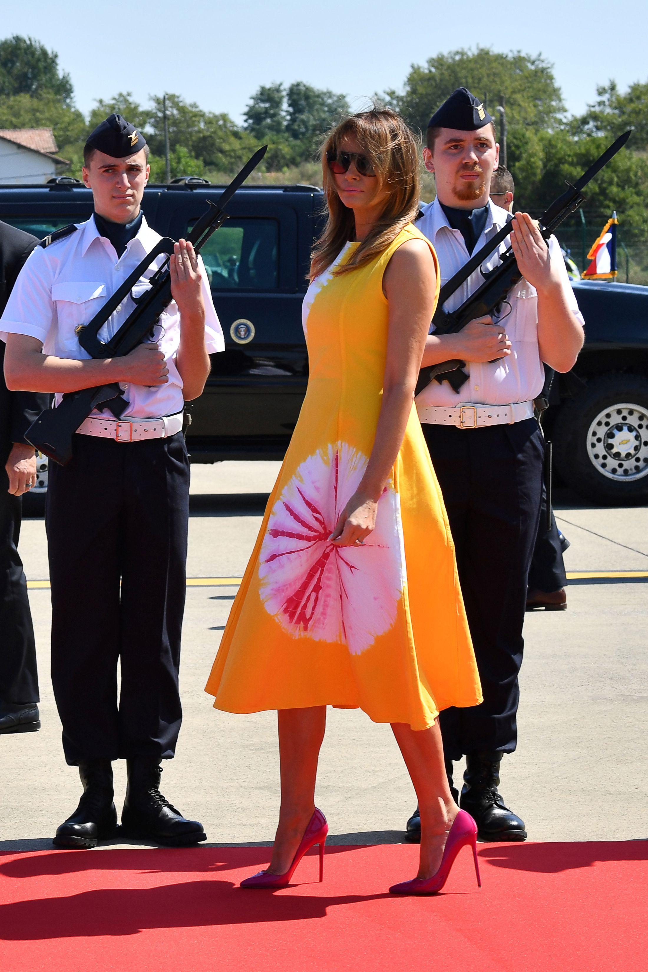 I look di Melania al G7