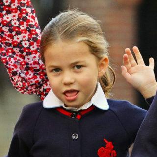 Principessa Charlotte a scuola con suo fratello George
