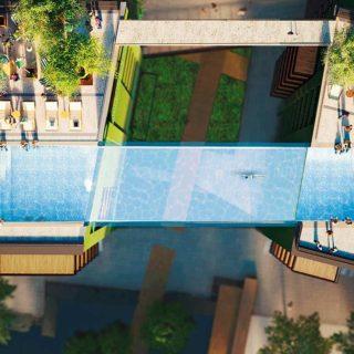 A Londra la prima piscina sospesa tra due grattacieli