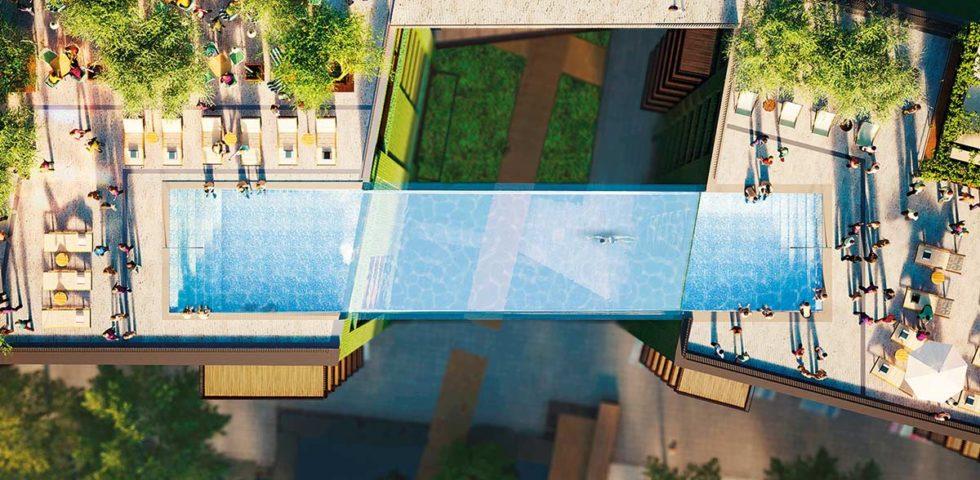 Sky Pool Londra: ecco la prima piscina sospesa tra due grattacieli