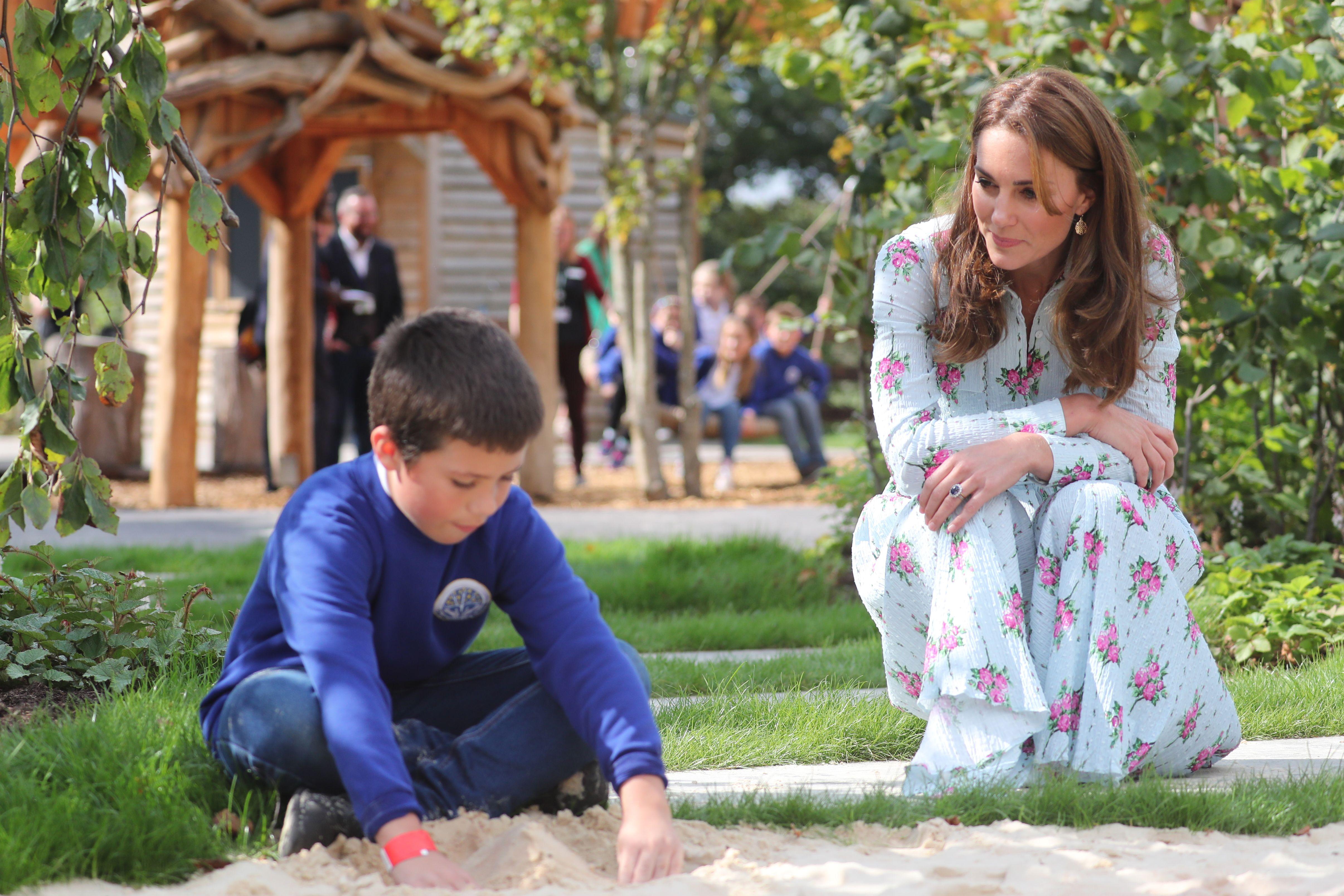 Kate inaugura un nuovo parco