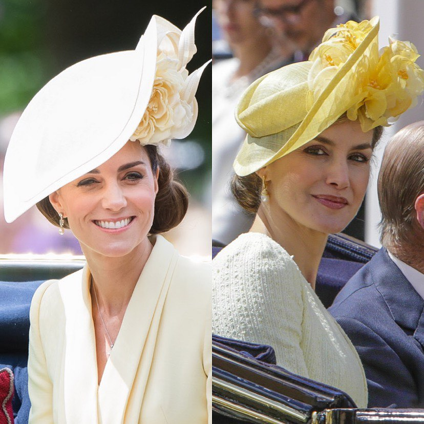 Letizia e Kate look a confronto