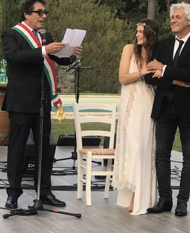 Kasia Smutniak e Domenico Procacci sposi