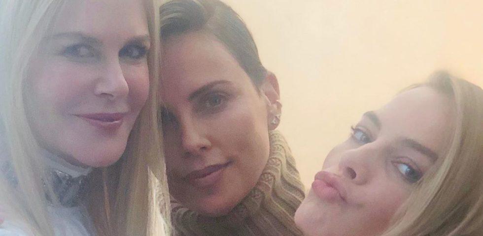 Charlize Theron: il selfie con Nicole Kidman e Margot Robbie è una dichiarazione d'amore