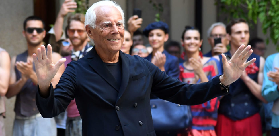 Giorgio Armani premio alla carriera ai British Fashion Awards 2019