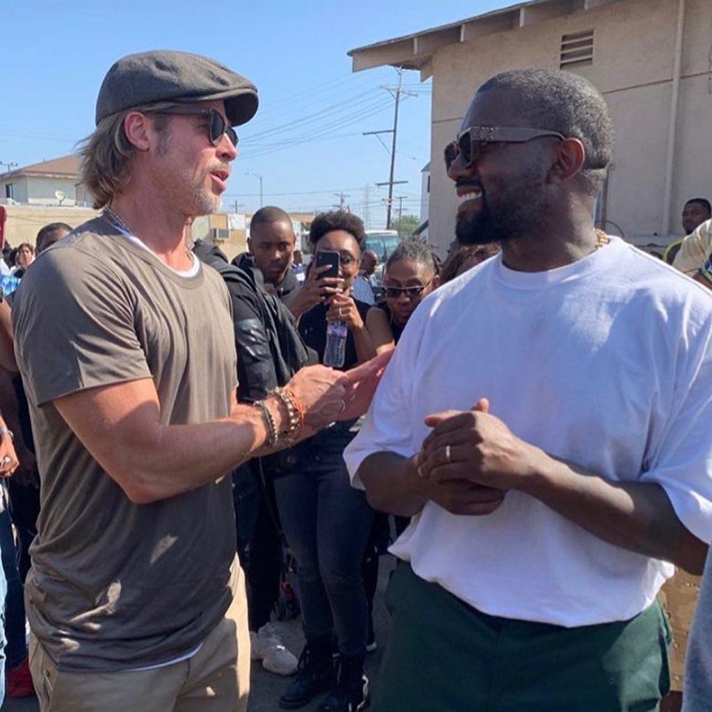 Brad Pitt ammira Kanye West