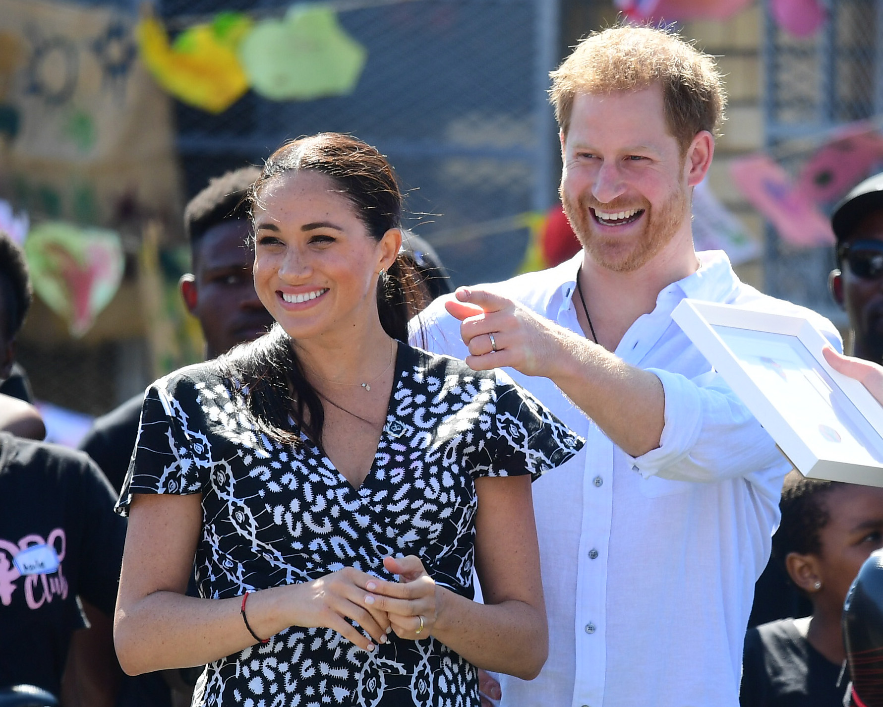 Meghan e Harry in Africa