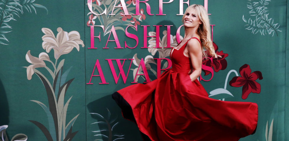 Michelle Hunziker, la più bella ai Green Carpet Fashion Awards 2019