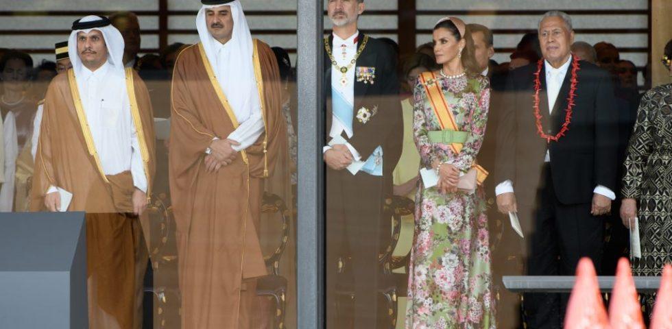 Letizia Ortiz: look insolito per l'incoronazione dell'Imperatore Naruhito