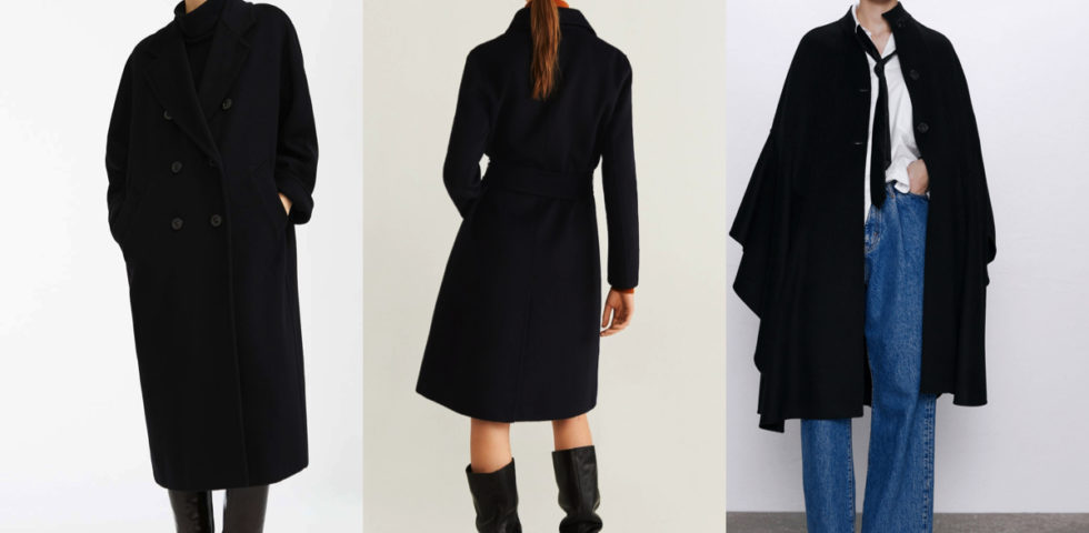 abbinare cappotto nero