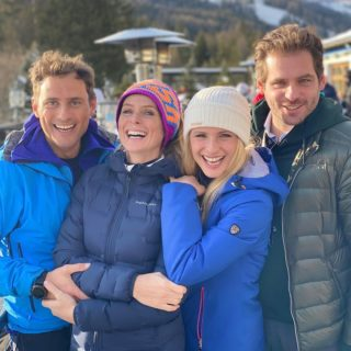Michelle Hunziker: settimana bianca sulle Dolomiti