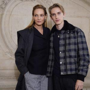 Uma Thurman e Levon Hawke: mamma e figlio per Dior