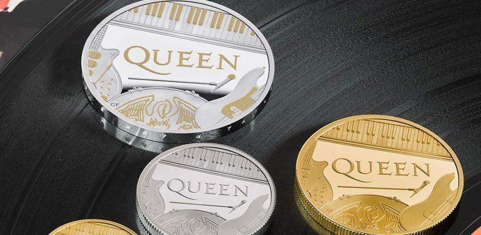 I Queen sulle monete inglesi