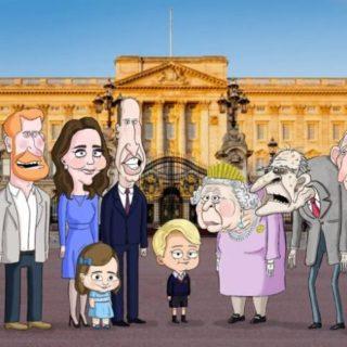 I Reali d'Inghilterra diventano cartoni animati
