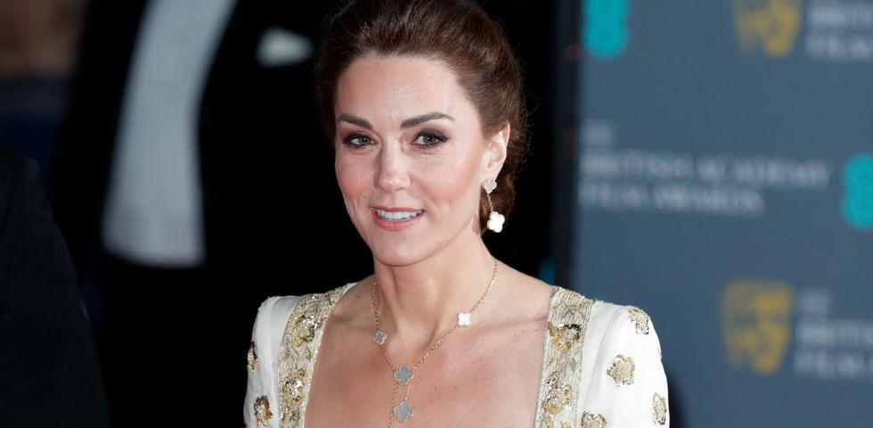 Kate Middleton in Alexander McQueen ai BAFTA Awards 2020