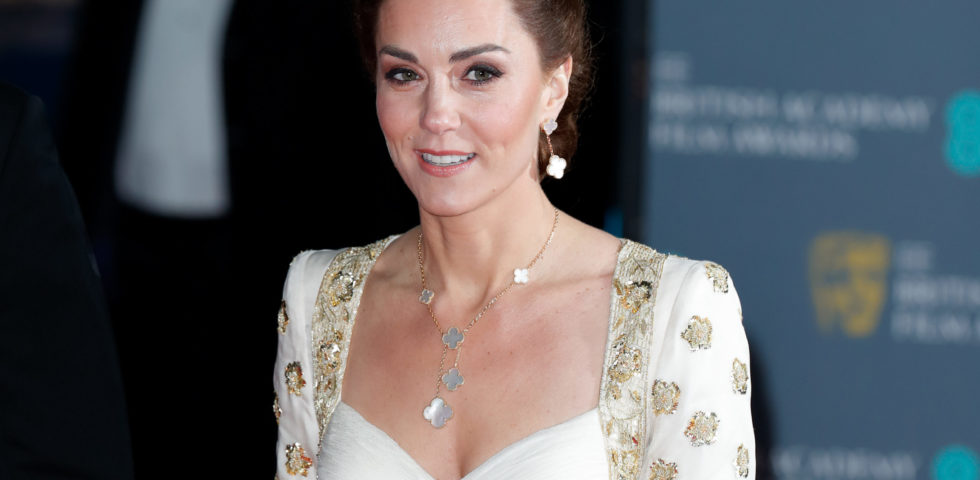 Kate Middleton in Alexander McQueen ai BAFTA Awards 2020