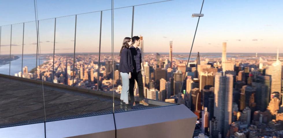 Edge New York: apre la terrazza sospesa nel vuoto