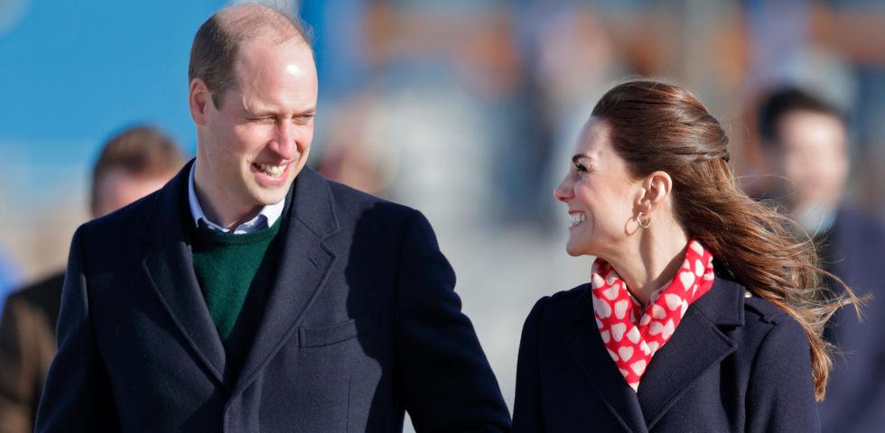 Kate Middleton e il Principe William: gesti d'affetto in Galles