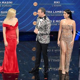 I look di Georgina Rodriguez e Alketa Vejsiu a Sanremo
