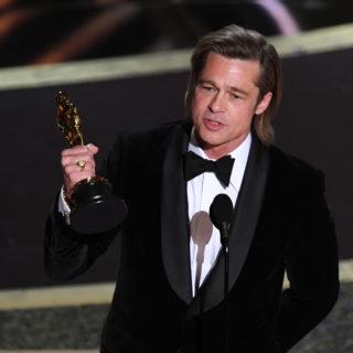 Brad Pitt dedica la vittoria dell'Oscar ai figli