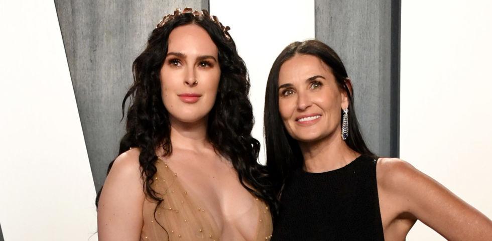 Demi Moore e la figlia Rumer Willis brillano al Vanity Fair Oscar Party 2020