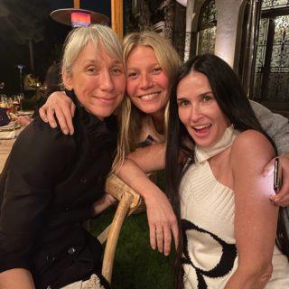 Gwyneth Paltrow e Demi Moore a cena senza trucco (foto)