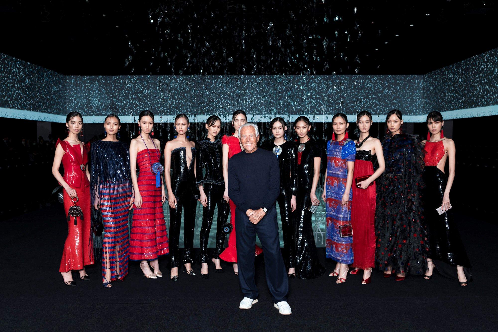 La moda ultraterrena di Giorgio Armani