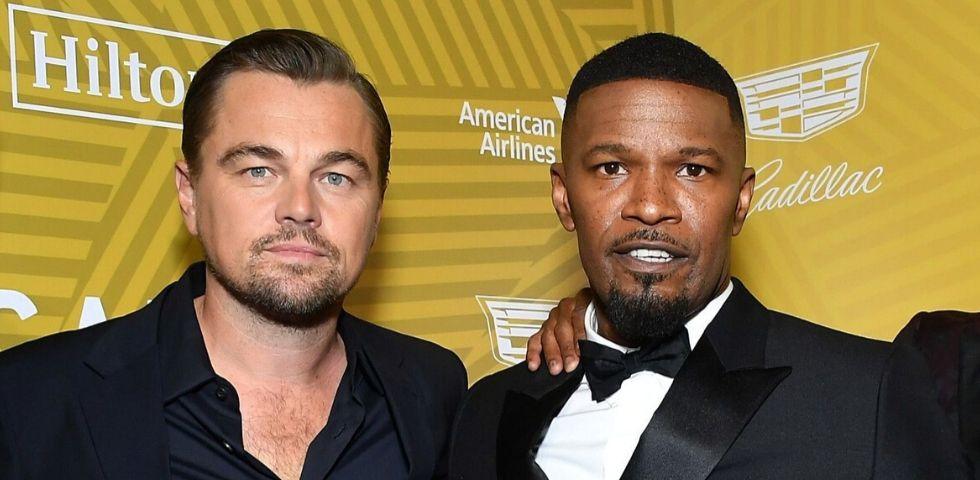 Leonardo DiCaprio premia l'amico Jamie Foxx