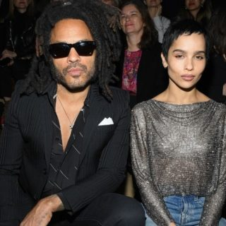 Zoe e Lenny Kravitz alla Paris Fashion Week