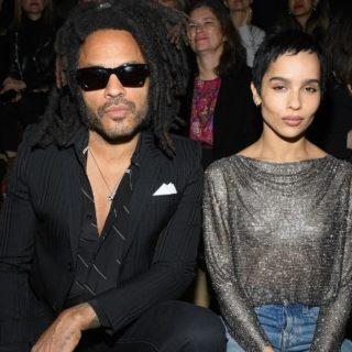 Zoe e Lenny Kravitz alla Paris Fashion Week