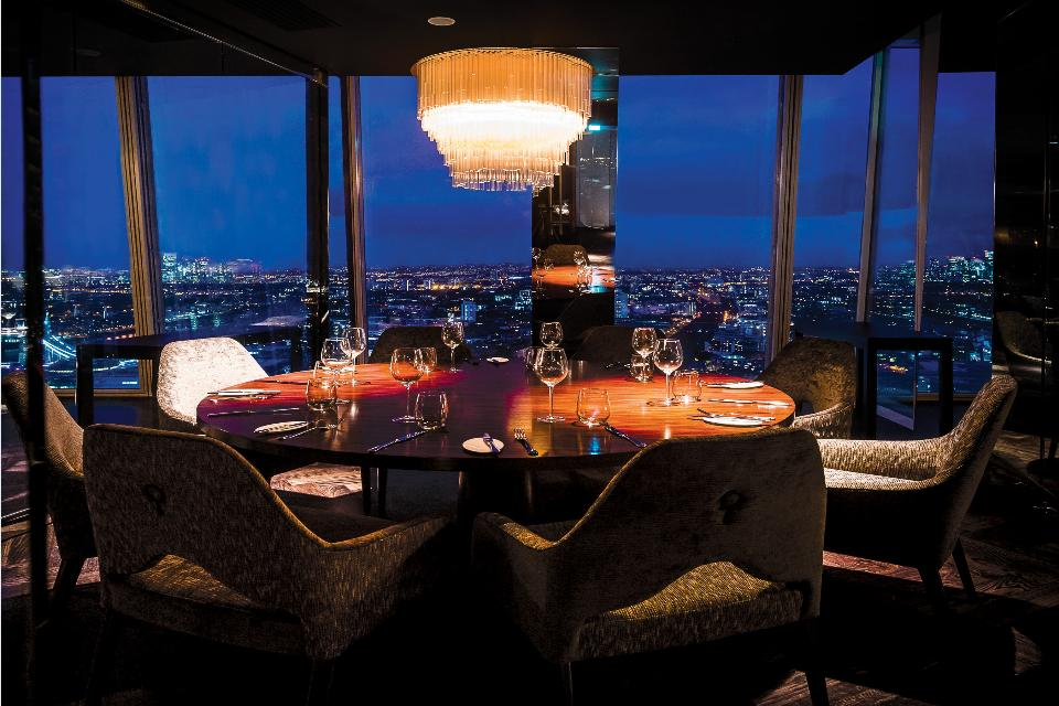 Book a table: Aqua Shard, il ristorante con vista su Londra