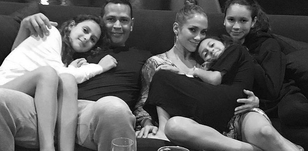 La dedica speciale di Alex Rodriguez a Jennifer Lopez e alle figlie