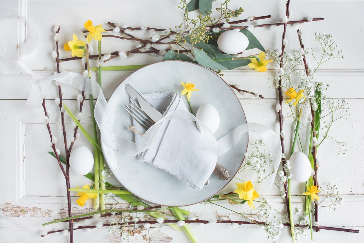Rami Di Pesco Finti decorazioni pasquali fai da te: idee per la tavola | diredonna