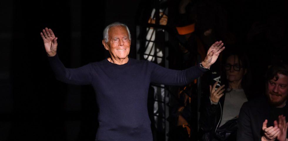 Giorgio Armani: la moda deve rallentare dopo il Coronavirus
