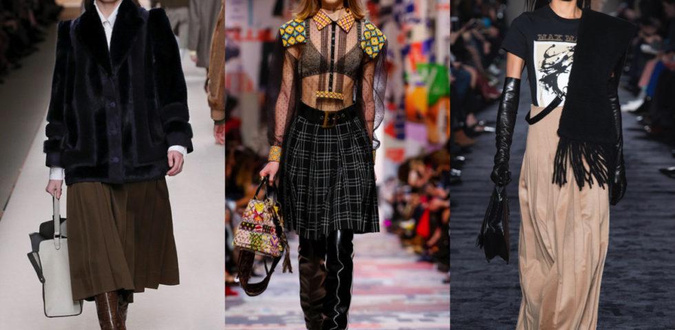 Gonna plissettata: 5 abbinamenti moda per l'inverno 2019