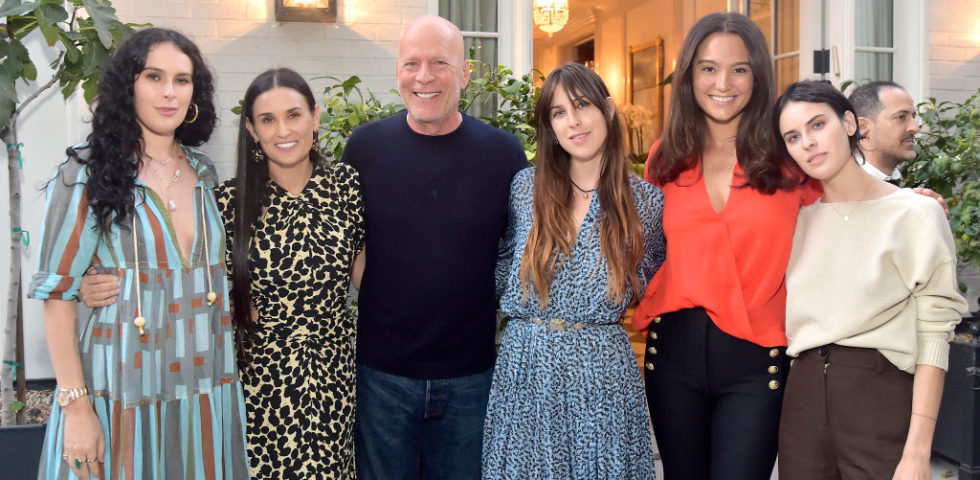 Demi Moore e Bruce Willis: folle e colorata quarantena insieme per i due ex