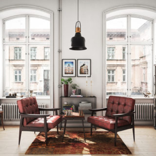 Mix & match: arredi vintage in una casa moderna