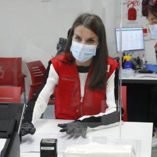 Letizia Ortiz volontaria per la Croce Rossa