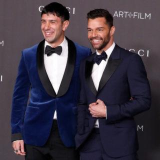 Ricky Martin e il tenero bacio al marito