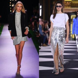 Fashion Tip: gli outfit più belli con la gonna argento