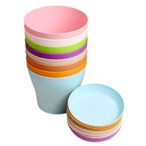 KINGLAKE vasi in plastica con sottovasi