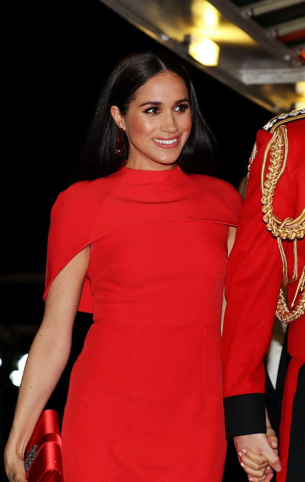 Meghan Markle in vestito rosso