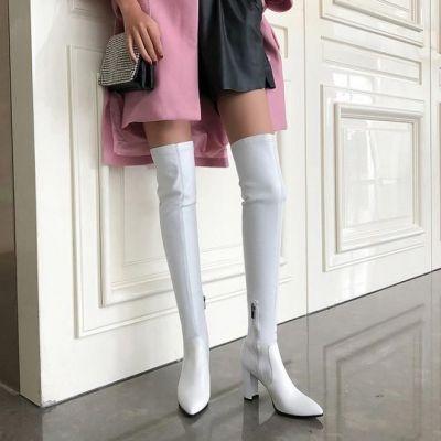 Scarpe con tacco largo stivali
