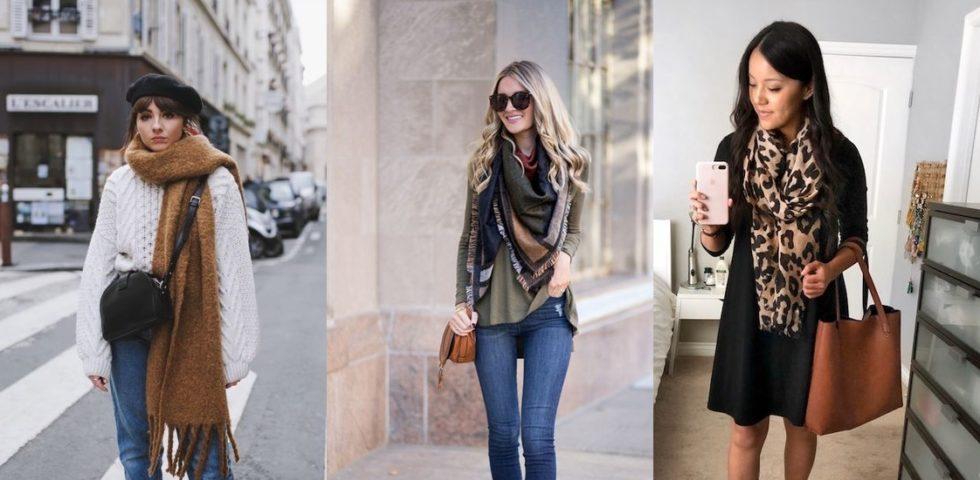 Come indossare la sciarpa: ispirazioni e soluzioni