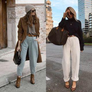 Gli infiniti modi di indossare i pantaloni slouchy
