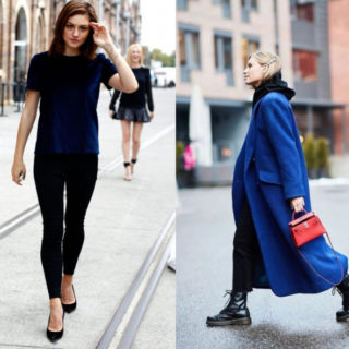 So chic: come abbinare blu e nero