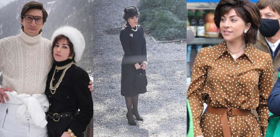 Lady Gaga è la Signora Gucci: i look sul set