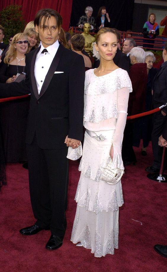 Vanessa Paradis con l'abito vintage Chanel agli Academy Awards del 2004