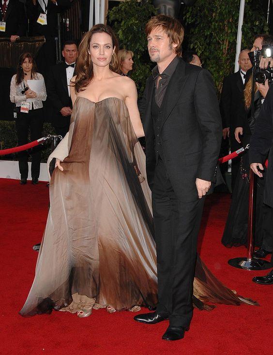 Angelina Jolie con l'abito vintage firmato Hermès