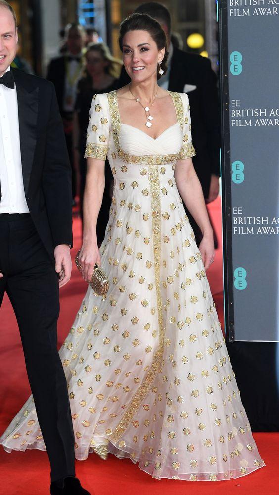 Kate Middleton e l'abito vintage Alexander McQueen dei Bafta 2020